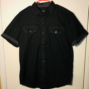Michael Brandon Mens Short Sleeved Shirt Size L